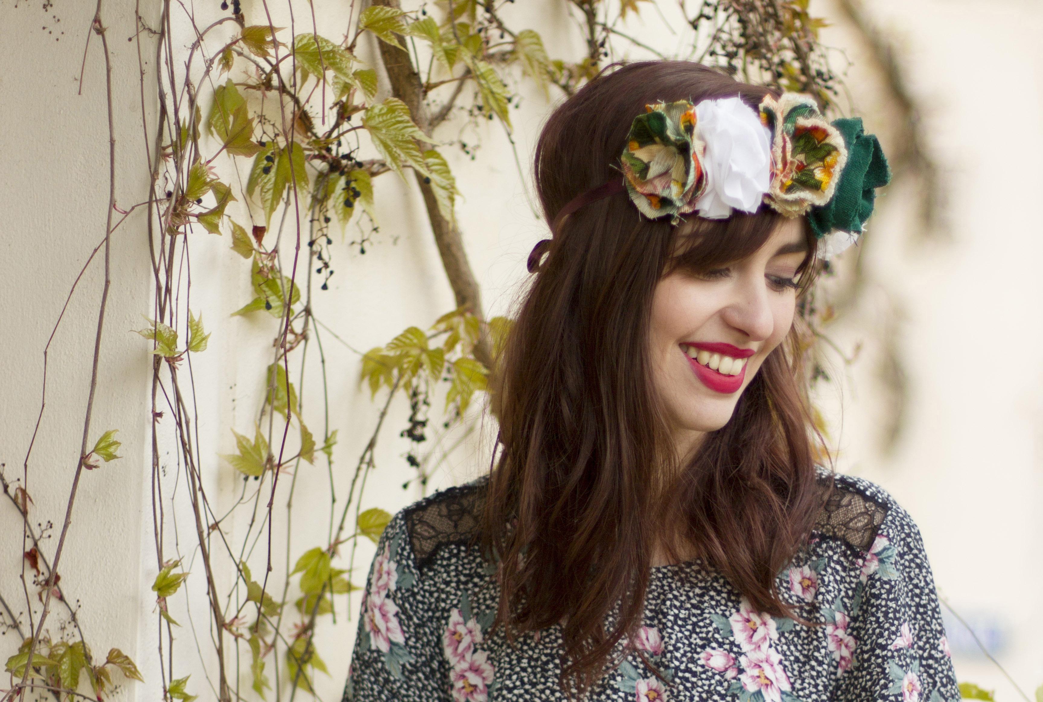 Diy Fabric Flower Crown Alabaster Blogzine