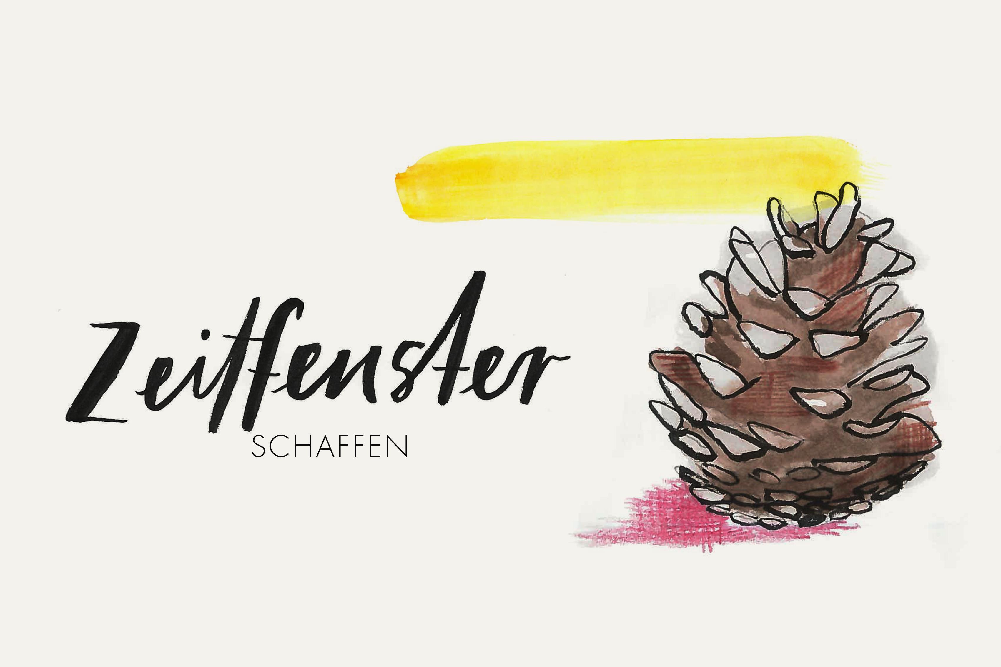 illusration_lettering_weihnachten_aquarell_pinecone