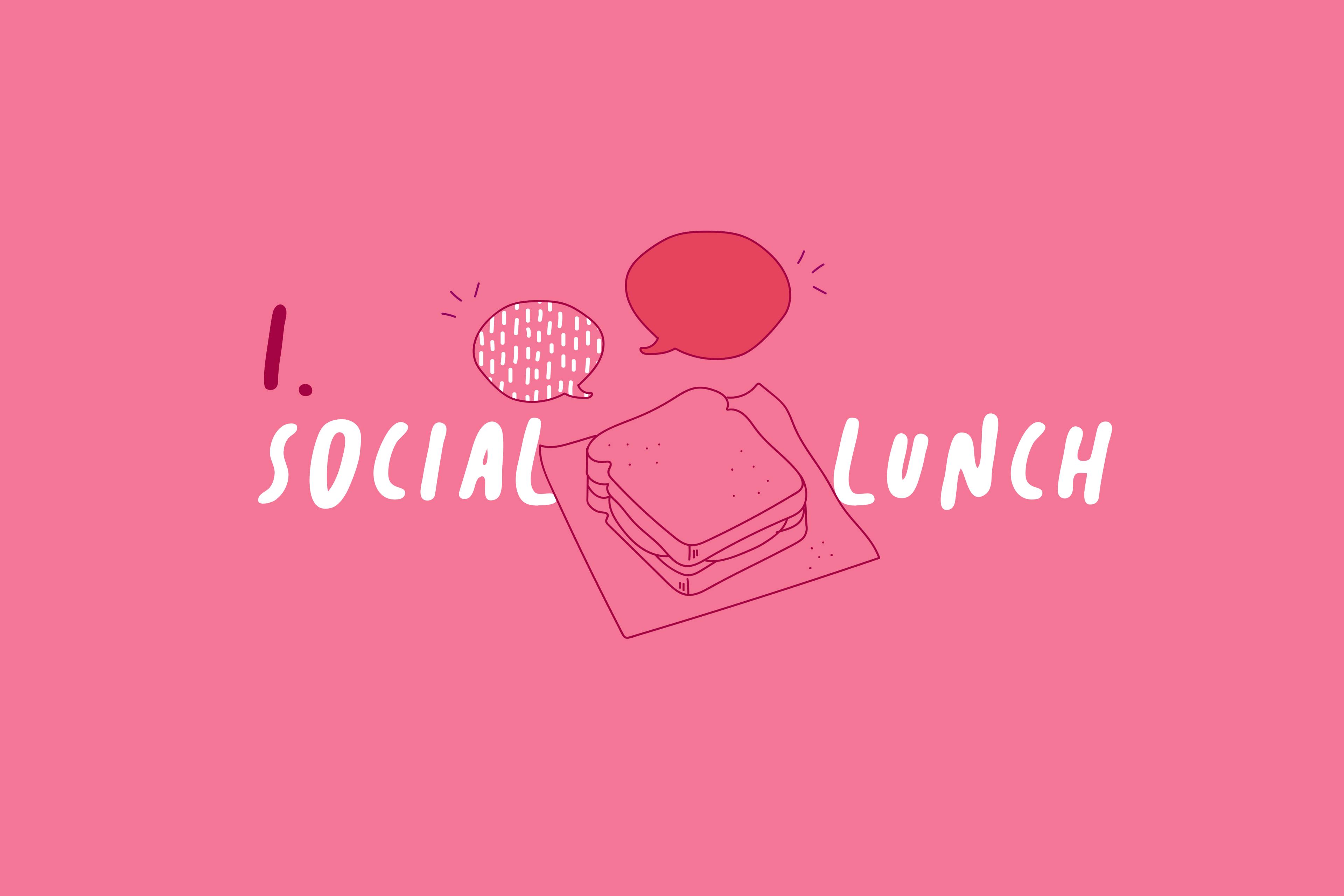 Wintermonate_Tipps_Mittagessen_Social_Lunch_Illustration