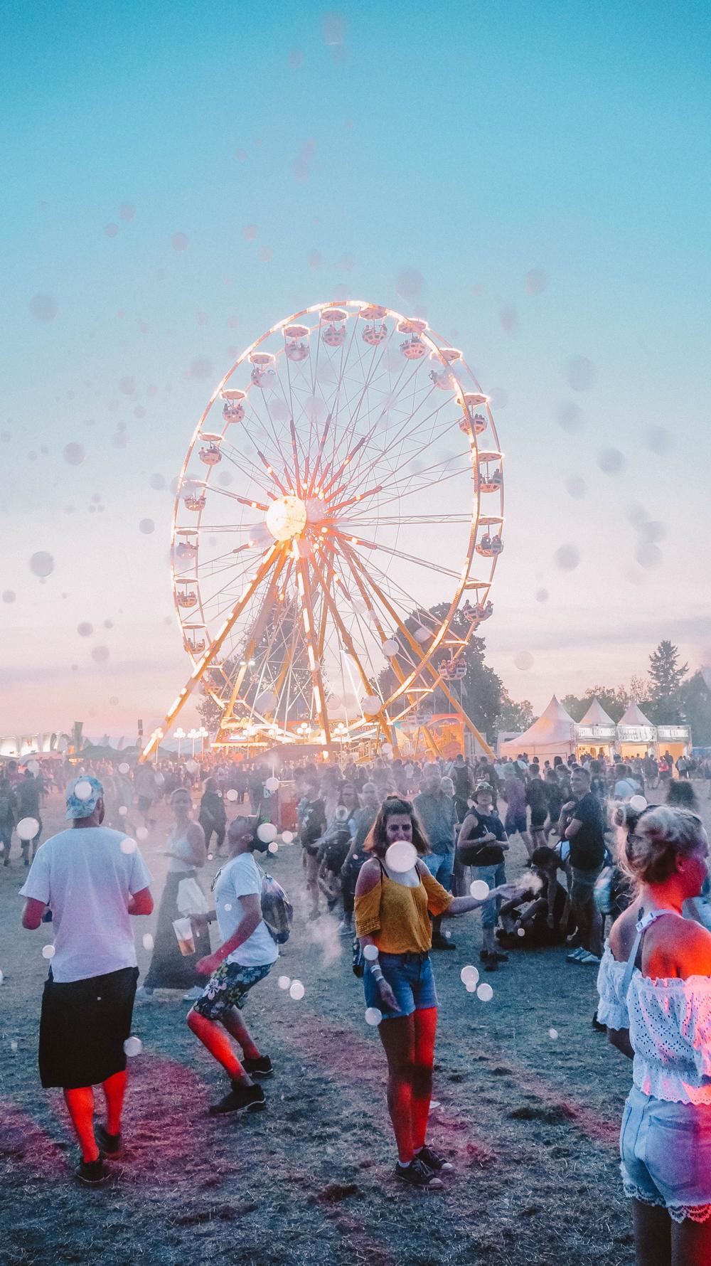gesund und vegan auf einem Festival essen