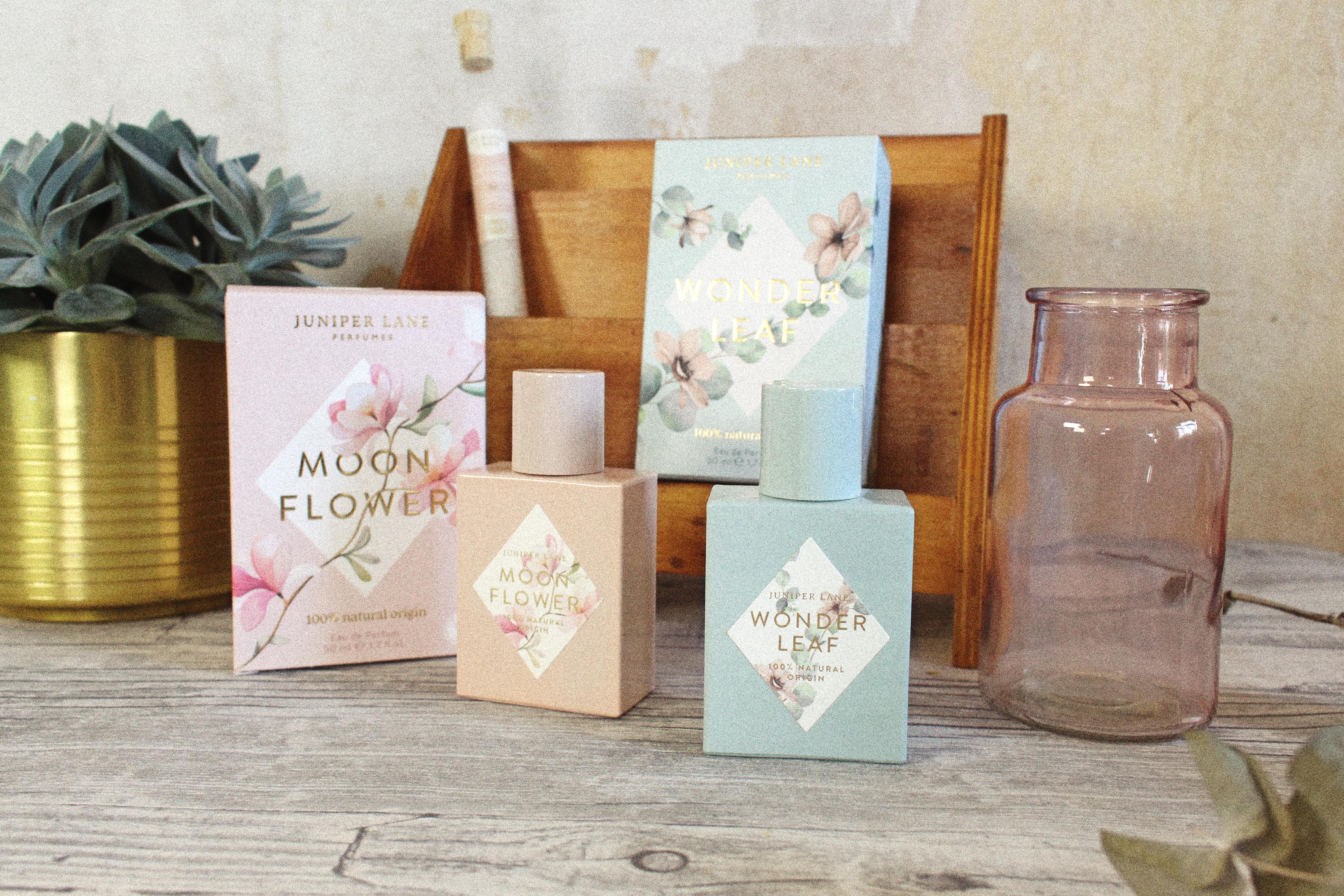 Juniper Lane Parfums Moonflower und Wonderleaf mit Verpackung