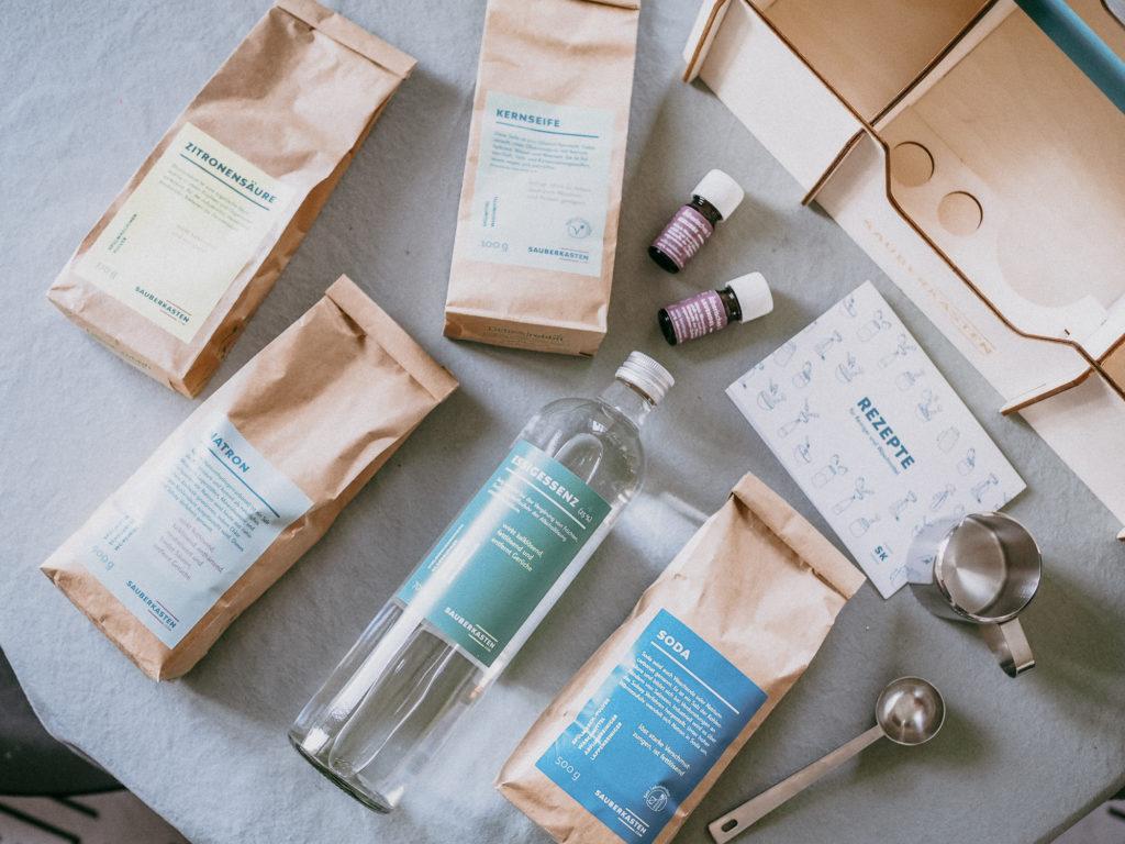 Produkttest: mehr Nachhaltigkeit im Haushalt und die DIY Reinigungsmittel von Sauberkasten.