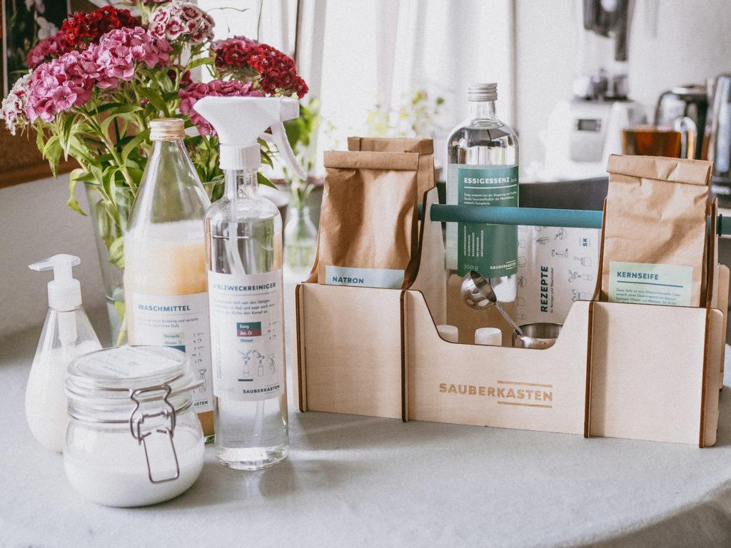 Umwelttage Leipzig, die Ökofete und ein Produkttest: mehr Nachhaltigkeit im Haushalt und die DIY Reinigungsmittel von Sauberkasten.