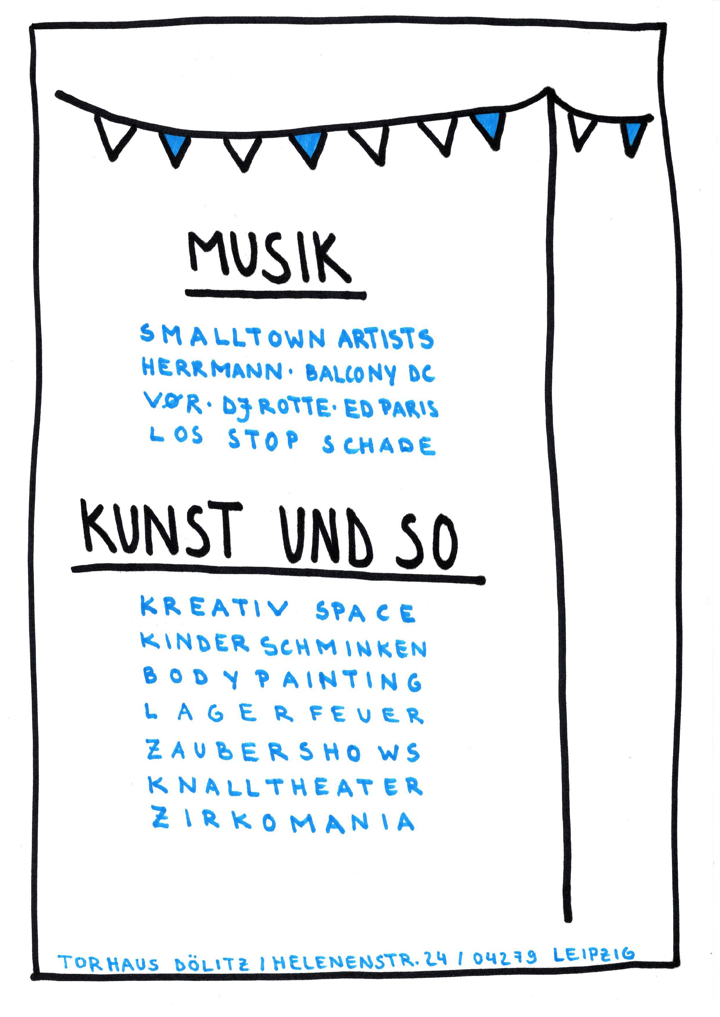 TEASER Kulturfestival Flyer Musik und Kunst