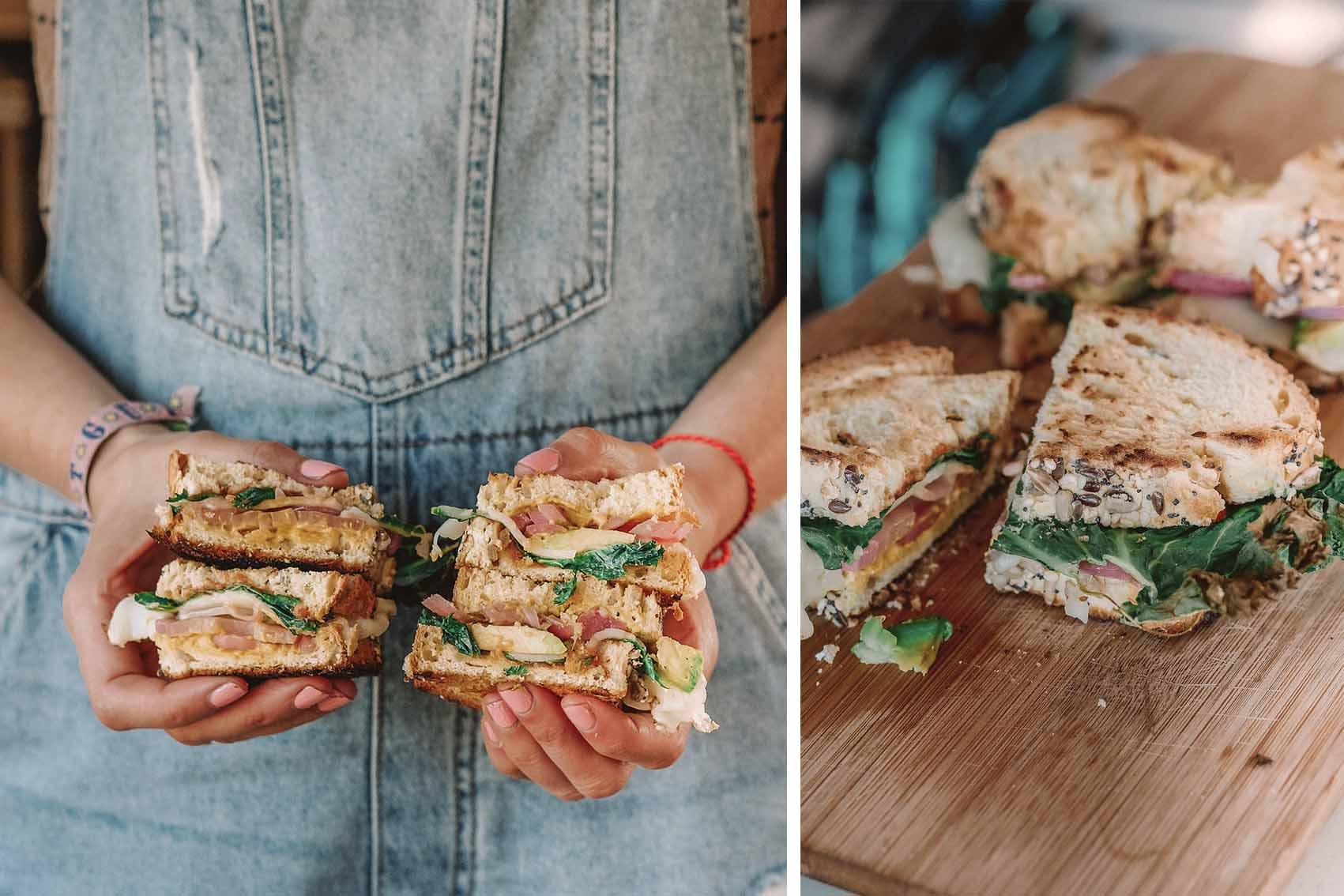 veganes Grilled Cheese Sandwich Zubereitung