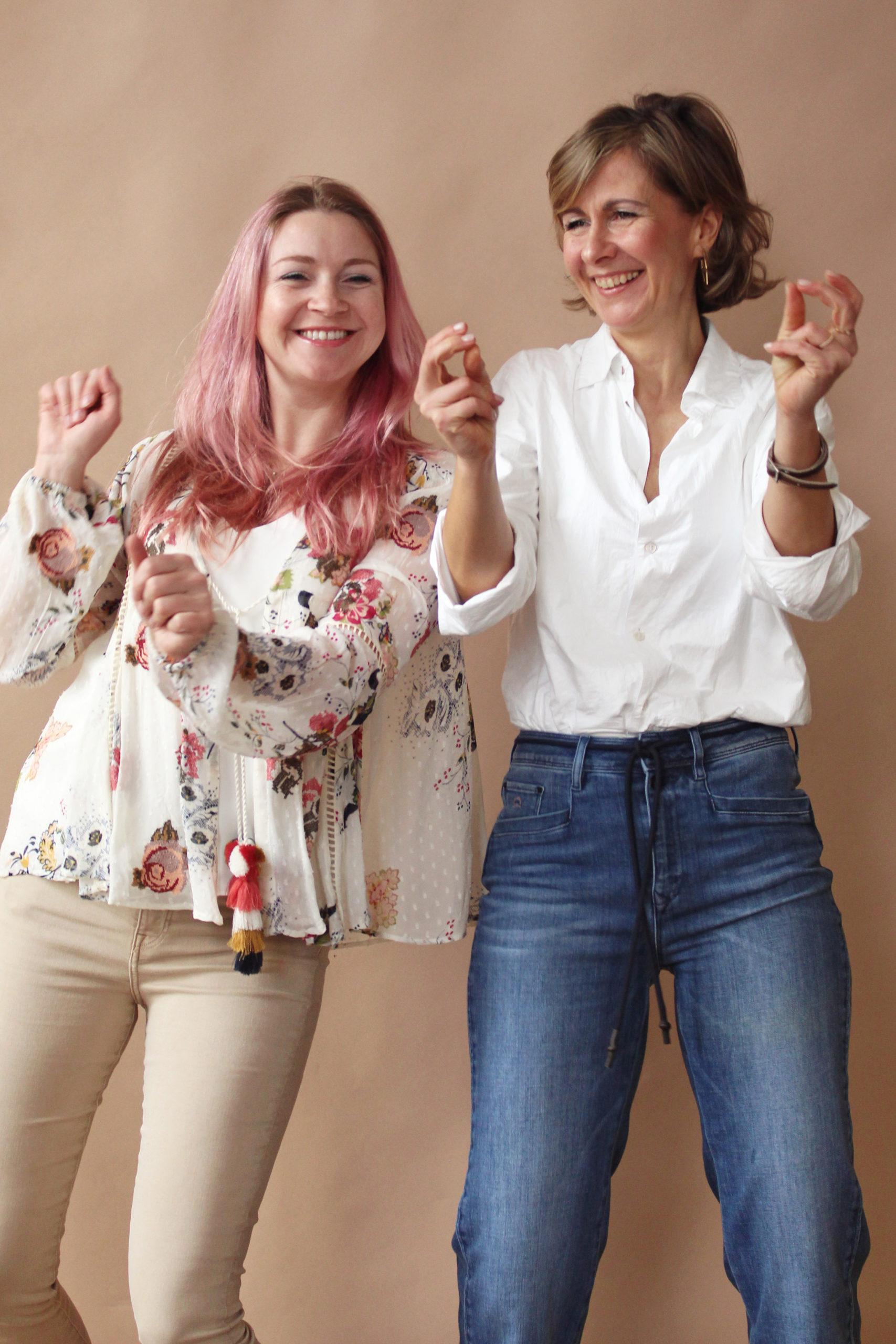 Jess und Anja im Ladenstudio