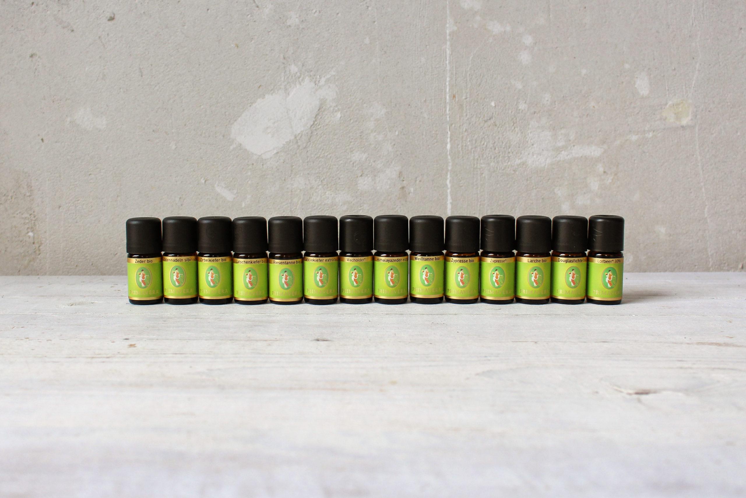 alle 15 ätherischen Baumöle von Primavera